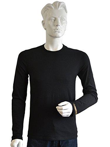 (エンポリオアルマーニ) EMPORIO ARMANI クルーネック イーグルマーク 長袖Tシャツ メンズ 黒[111287-5a512] [並行輸入品]