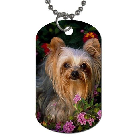 yorkie terrier pendant necklace tag jewelry