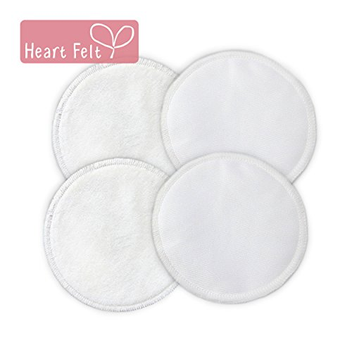 Heart Felt Organic Bamboo Breast Pads, 2-Pair Pack