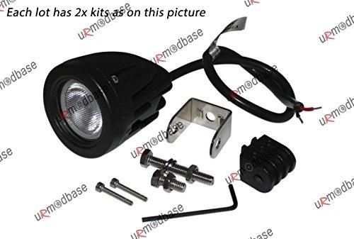 2x 10W Spot et Flood Combo faisceau à LED CREE hors-route 12V 24V Lampe de travail 4WD CAMION Moto