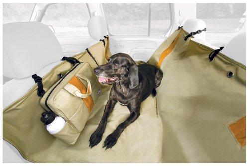 Kurgo KU00031 Wander Hammock Seat Cover, Khaki with Orange