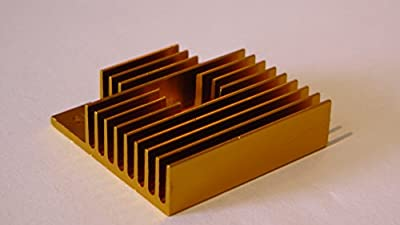 1 x gold heatsink for mk extruders from big tree