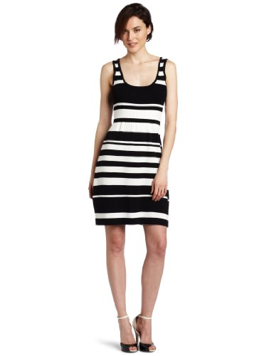 Trina Turk Women's Devonshire Stripes Dress, Black, Small