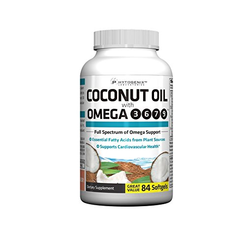 Phytogenix Coconut Oil With Omega 3, 84 Count