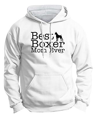 Dog Lover Gift Best Boxer Mom Ever Premium Hoodie Sweatshirt