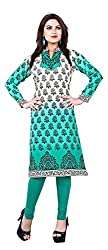 SANVARI FASHION Women's Crepe Straight Kurta (Event114-B, Multi-Coloured, XS)