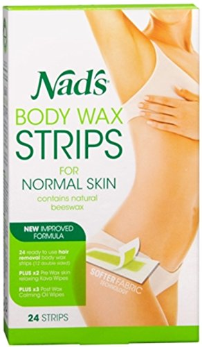 Nad's Hair Removal Strips 24 Each (Pack of 4)