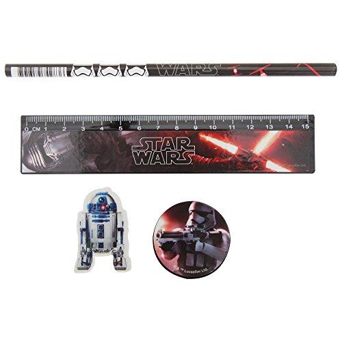 Star Wars-Set da cancelleria, confezione da 4 pezzi, multicolore