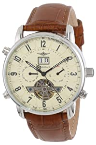 Breytenbach Unisex Quartz Watch with Beige Dial Analogue Display and Brown Leather Strap BB7745BE