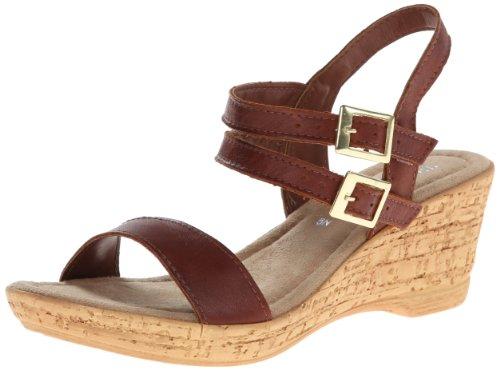 Bella Vita Made In Italy Women'S Zucchero Wedge Sandal,Tan/Tan Leather,10 M Us