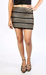 Synthetic Leather Detailed Skirt