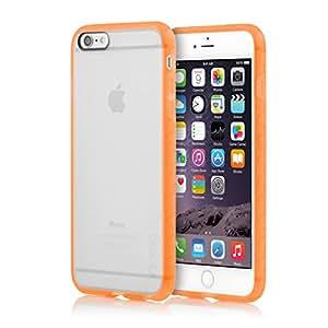 iPhone 6 Plus/6s Plus Case, Incipio [Clear] Octane Case for iPhone 6 Plus/6s Plus-Frost / Neon Orange