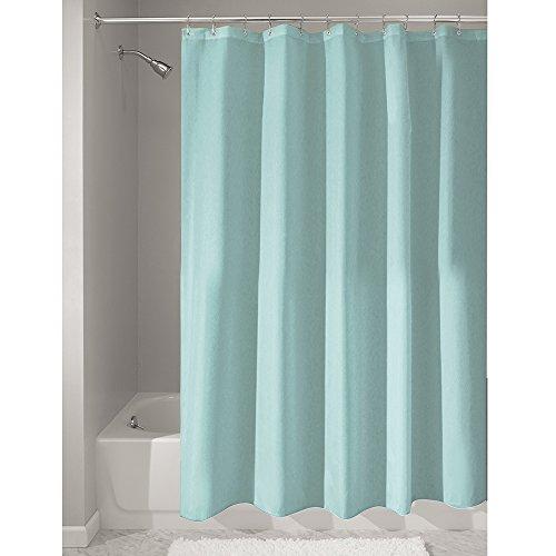 Interdesign 14685EU, Tenda da doccia in stoffa, impermeabile, antimuffa, 180 x 200 cm, Verde (Grün)