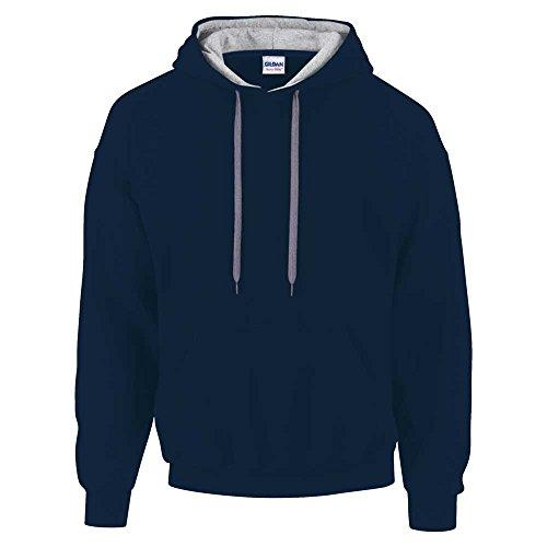 Gildan Mens Contrast Heavyblend Sweatshirt Hoodie