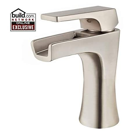 Pfister LG42MF1 Kelen Single Hole Bathroom Faucet with Waterfall Spout, Brushed Nickel
