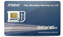 Telcel Mexico Prepaid SIM Card with 4GB Data and 250 Anywhere Minutes (LTE - Fits All Devices)
