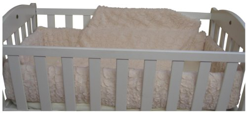 Baby Doll Bedding Sherling Cradle Bedding Set, Ivory - 1