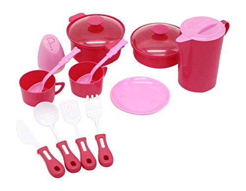 Little Treasures Mini Pot & Pan Kitchen Pretend Play Cookware Playset toy (Children Pot And Pans compare prices)