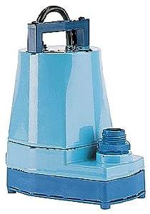 Little Giant 5-MSP 1/6 HP, 1200 GPH, 127V - Submersible Utility Pump 127V, 10' Power Cord (505500)