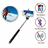ECellStreet Selfie Stick Wireless Monopad With Aux Cable For Samsung Galaxy S Duos 2 S7582