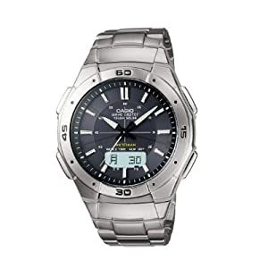 Casio Mens WVA470DJ-1ACF Waveceptor Solar Atomic Ana-Digi Sport Watch
