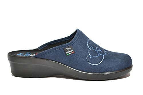 Fly Flot Ciabatte comfort donna blu anatomiche 7653 34