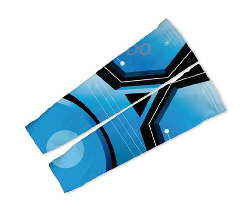 Image of Blue Trace Arm Warmers Sleeves Unisex Walking/Cycling/Running (01-AWS-022-PM)