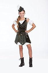 Halloween Wholesalers Girl's Rob'n da Hood-Small/Medium Black