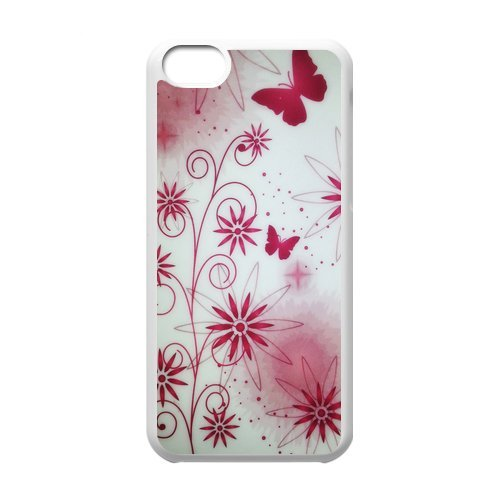 Generic Cell Phone Cases Cover For Apple Iphone 5C Case Fashionable Art Designed With Beautiful Butterfly - K Personalized Shell front-959721