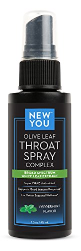 Olive Leaf Throat Spray Complex - Soothes Throat Discomfort & Supports All-Season Wellness (Olive Leaf Extract Throat Spray compare prices)