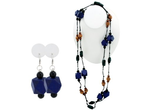 Wholesale Set Of 30, Purple Wood Beaded Necklace And Earring Set (Jewelry, Necklaces), $3.96/Set Delivered