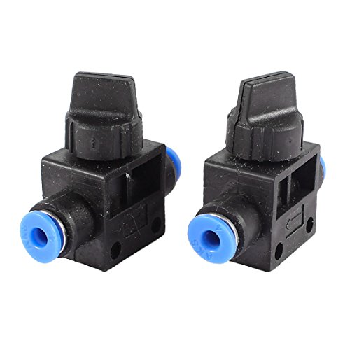 2Pcs 4Mm To 4Mm Tube Quick Connector Air Pneumatic Speed Control Valve