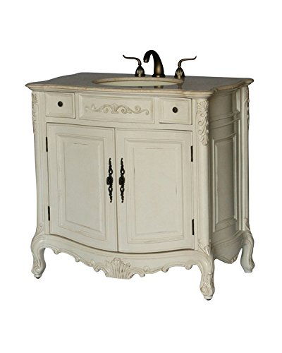 Stunning  Antique Style Single Sink Bathroom Vanity Model BE