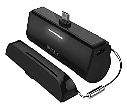 iWALK Link Me 3000mAH Rechargeable Docking Case Friendly Backup Battery for ALL Smartphones and Tablets with Micro USB - Black
