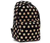 Paul Frank Monkey Face Holdall Messenger Shoulder Vintage Despatch Bag Back To School College Multi Face Black