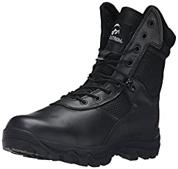 Maelstrom Men\'s LANDSHIP 8 Inch Military Tactical Duty Work Boot with Zipper, Black, 8 W US