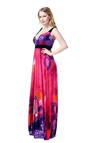 Coway Womens Beach Silk Maxi Dresses Size 2XL