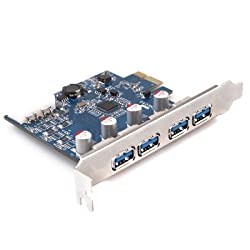 GMYLE (TM) PCI-Express 4 Ports USB 3.0 With 4-Pin Molex Power NEC D0720201 Chipset Control Card Adapter