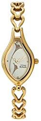 Titan Raga Analog Champagne Dial Womens Watch - NE2457YM02