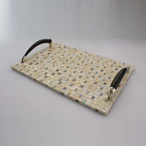 Elvy Mother Of Pearl Mosaic Mop Tray
