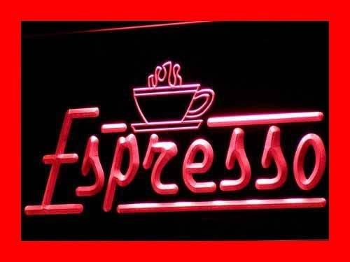 Adv Pro I075-R Espresso Coffee Shop Cafe Club Neon Light Sign