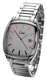 Limit Courant White Dial Rose Gold Details Steel Bracelet Gents Watch 5421