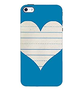 PrintDhaba Heart D-1453 Back Case Cover for APPLE IPHONE 5S (Multi-Coloured)