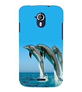 printtech Nature Water Dolphin Back Case Cover for Micromax Canvas Magnus A117