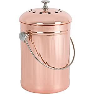 copper plated stainless steel kitchen compost