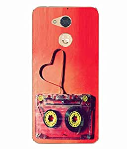 Case Cover Cassette Printed Red Soft Back Cover For Gionee S6 Pro
