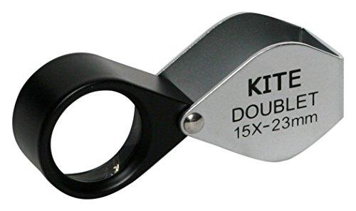 Doublet Kite 15x -lente d'Grossissement 15x, diamètre frontale 23mm, Couleur?: Noir