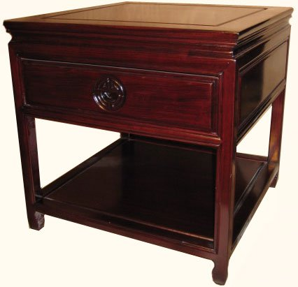 Buy low price 22 wide stately solid rosewood chinese ming for Wide side table