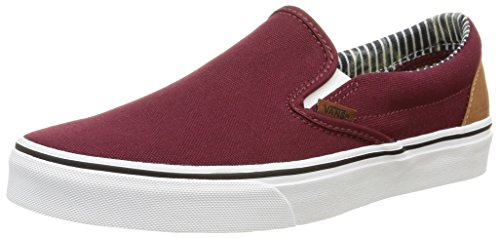 VansClassic Slip-On - Zapatillas de Deporte Unisex adulto, Rojo (c&l/port Royale/stripe Denim), EU 40