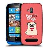 Head Case Piper The Pug Not Drugs Design Back Case Cover For Nokia Lumia 610